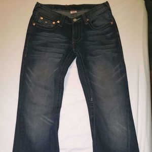 True Religion Joey embroidered pocket jeans